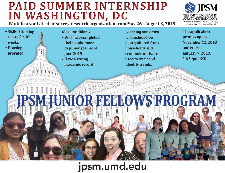 Joint Program in Survey Methodology - Junior Fellows Summer