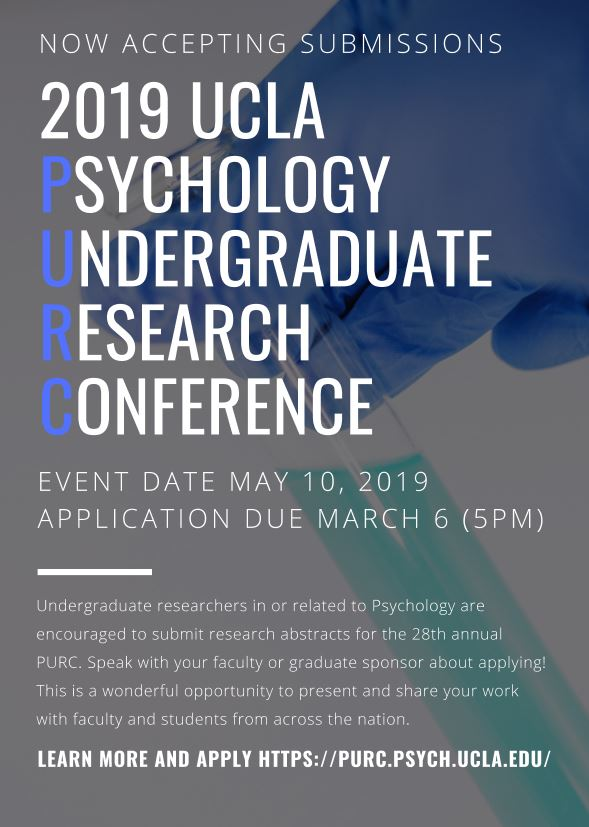 2019 UCLA Psychology Undergraduate Research Conference | Duke